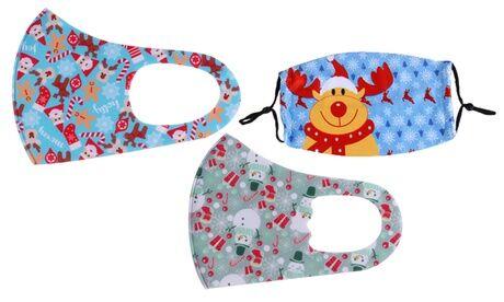 Groupon Goods Global GmbH Lot de 2 masques réutilisables adulte/enfant