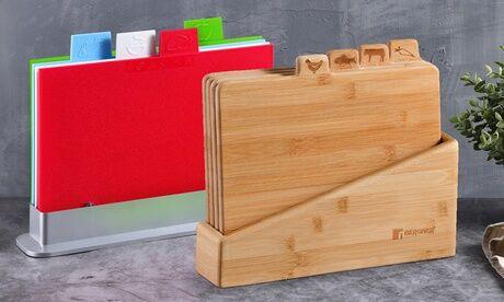 Groupon Goods Global GmbH Planche à découpe Bergner 5 pièces en couleurs ou en bambou