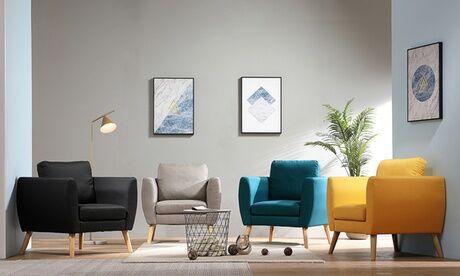 "Groupon Goods Global GmbH Fauteuil style scandinave ""Solveig"", livraison offerte"