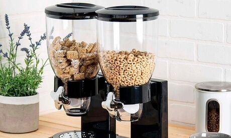 Groupon Goods Global GmbH Distributeur alimentaire à double récipient 8 L pour céréales ou fruits secs