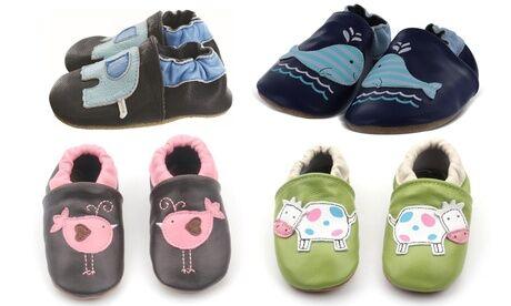 Groupon Goods Global GmbH Chaussons bébé antidérapants en cuir souple Shoop's