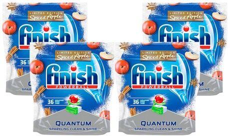 """Groupon Goods Global GmbH 2, 3 ou 4 packs de 36 tablettes pour lave-vaisselle de la marque Finish, édition limitée """"Quantum Spiced Apple"""""""