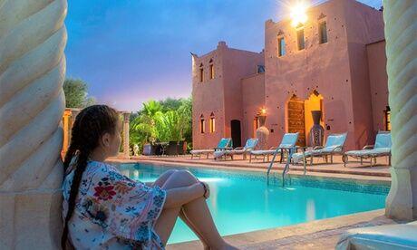 Kasbah Chwiter Marrakech: chambre Double/Triple, demi-pension, options transferts et balade en dromadaire pour 2 ou 3 au Kasbah Chwiter