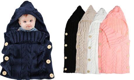 Groupon Goods Global GmbH Couverture gigoteuse tricotée 2 en 1 pour bébé