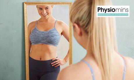 Physiomins - Nice est 1 ou 2 consultations par un coach et 1, 2 ou 3 soins minceur au choix au centre Physiomins Nice