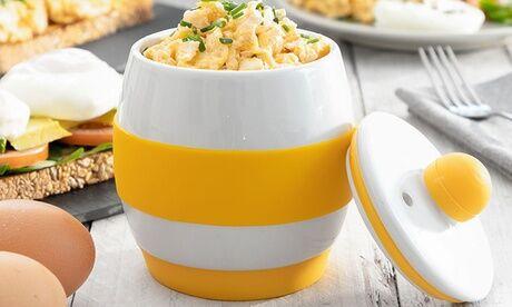 Groupon Goods Global GmbH Cuit-oeuf en céramique pour micro-onde
