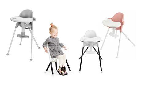 Groupon Goods Global GmbH Chaise haute évolutive 2 en 1 style scandinave Pini Kinderkraft