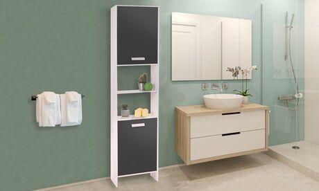 Groupon Goods Global GmbH Colonne salle de bain multi-rangements, 170 cm