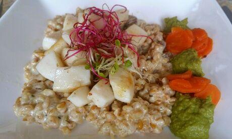 La Coccinelle Entrée, plat ou plat et dessert bio fait maison pour 2 pers, valables midi ou soir au restaurant La Coccinelle