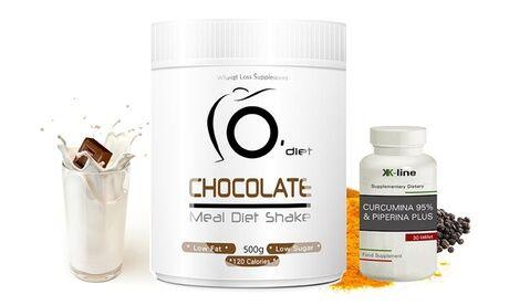 Groupon Goods Global GmbH Line@Diet: Cure minceur complète Milk-Shake 500g + Curcuma & Pipérine Plus K-Line