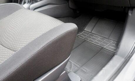 Groupon Goods Global GmbH Lot de 4 tapis universels en caoutchouc pour voiture