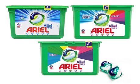 Groupon Goods Global GmbH 40 à 240 doses de lessive Ariel Pods Alpine, Color et Lenor