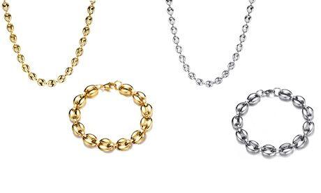 Groupon Goods Global GmbH Collier et bracelet ''grains de café'', ensemble ou à l'unité