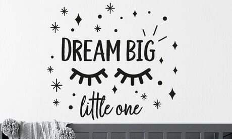 """Groupon Goods Global GmbH Sélection d'autocollants muraux """"Dream big little one"""" de Walplus, pour bébé"""