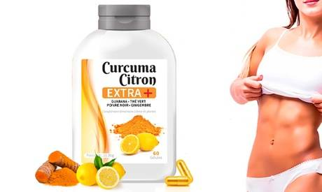 Groupon Goods Global GmbH Cure Curcuma Citron Extra + de 30, 60, 120, 240, 360 ou 720 gélules