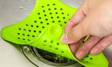 Groupon Goods Global GmbH 3, 6 ou 12 filtres pour les déchets vidange d'évier et douche en forme d'étoile de mer