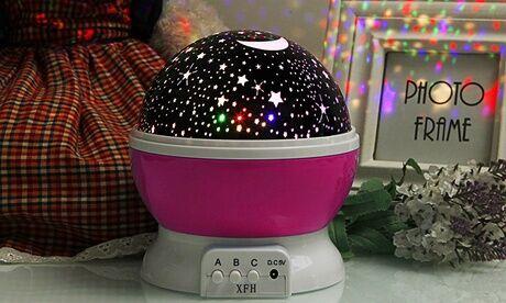 Groupon Goods Global GmbH Veilleuse projection d'étoiles pour chambre d'enfant