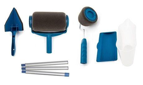 Groupon Goods Global GmbH 2 Rouleaux de peinture magiques anti-Éclaboussures rechargeables ,avec réservoir:1 rouleau+1 pour les coins