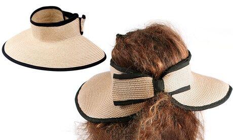 Groupon Goods Global GmbH 1, 2 ou 4 chapeaux en paille pliables
