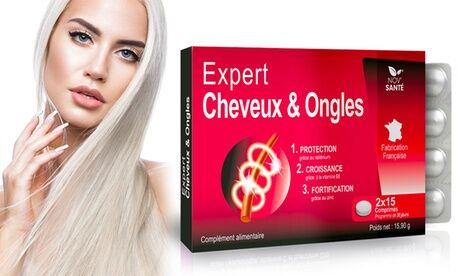 Groupon Goods Global GmbH Complément alimentaire Expert cheveux & ongles, jusqu`à 4 mois de cure
