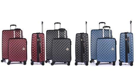 Groupon Goods Global GmbH Set 3 valises LYS en Polycarbonate ultra résistant, 8 roues 360°