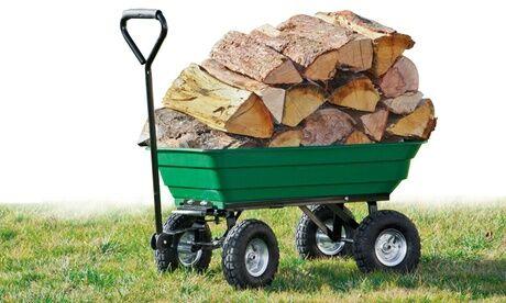 Groupon Goods Global GmbH Chariot remorque de jardin 52 litres Werkapro