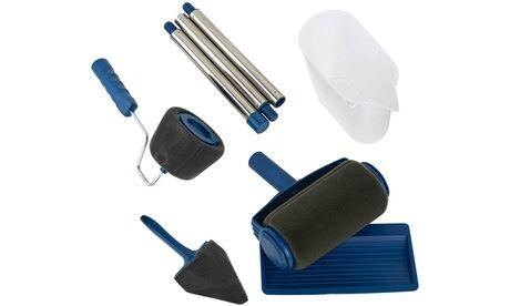 Groupon Goods Global GmbH 1 ou 2 packs de 2 rouleaux de peinture anti-éclaboussures rechargeables, avec réservoir : 1 rouleau + 1 pour les coins