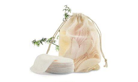 Groupon Goods Global GmbH 1, 2 ou 4 packs de 12 lingettes démaquillantes lavables en coton et bambou