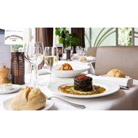 Chez Françoise Menu en trois services avec coupe de crémant offerte pour 1, 2 ou 4 personnes au restaurant Chez Françoise <br /><b>35 EUR</b> Groupon FR