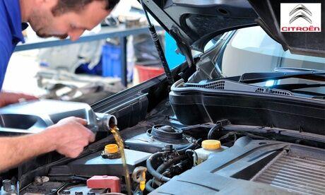Citroën Les Arcs Vidange 15W40, 10W40, 5W40 ou 5W30, filtre à huile, joint de vidange et bilan sécurité chez Citroën Les Arcs