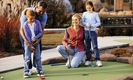 Mini Golf du Parc de la Tête Dor Parcours pour 2 ou 4 personnes en semaine ou le weekend au mini golf du Parc de la tête d'or