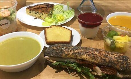 Soup Formule tarte avec grande soupe ou grande salade, ou petite soupe avec grande salade pour 1 ou 2 pers. chez Soup