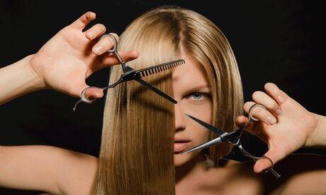 Patson coiffure Shampoing, coupe et brushing avec en option couleur ou défrisage sur cheveux mi-longs au salon de coiffure Patson