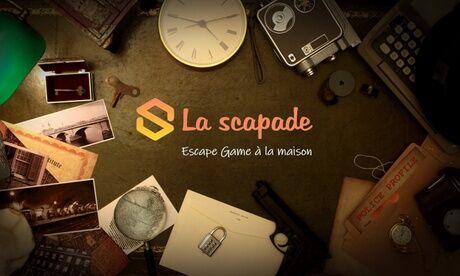Escape Game à la maison by La scapade Pack de 1 à 4 escape games à faire à la maison, au choix parmi 4 énigmes, avec La scapade