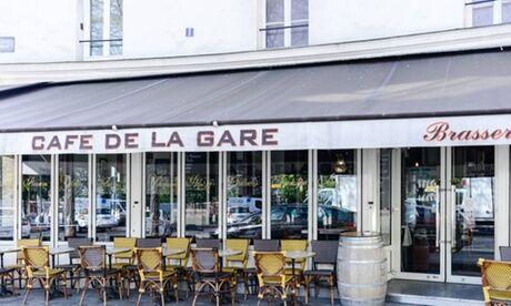 Le Café de la Gare Entrée et plat ou plat et dessert pour 2 personnes au restaurant Le Café de la Gare