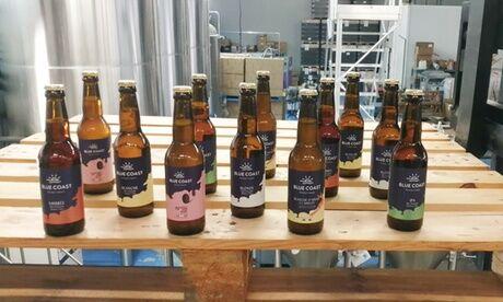 """Blue Coast 1 pack """"Découverte"""" de 6, 12 ou 24 bières artisanales de 33 cl à emporter ou en livraison à la Brasserie Blue Coast"""