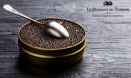 Le Diamant Du Terroir Bon d'achat de 5 €, 20 € ou 35 € sur du caviar, de la truffe et produits dérivés de truffe