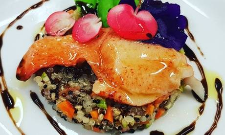 """Restaurant l'Ane Rouge Menu gastronomique """"Gourmand"""" ou """"Riviera"""" en semaine ou le weekend pour 2 convives au restaurant l'Ane Rouge"""