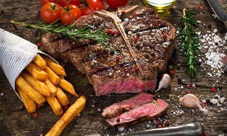 Le Cyprien 1 côte de bœuf d'1kg, avec frites maison, mesclun de salade et café, pour 2 pers., au restaurant Le Cyprien