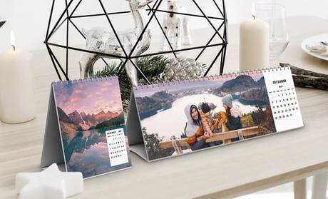 Photo Gifts (FR) 1 ou 2 calendriers personnalisés, modèle et taille au choix, sur le site Photogift (jusqu'à 74% de réduction)