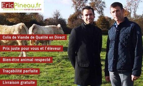 Eric Pineau Bon d'achat de 30€ valable sur tous nos colis de viande sur www.ericpineau.fr