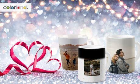 Colorland 1 ou 2 mugs photo personnalisables modèle Coloré, Latté ou Magique sur le site Colorland