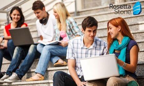 Rosetta Stone Essai de 3 jours ou abonnement de 3 et 12 mois aux cours de langues en ligne sur Rosetta Stone
