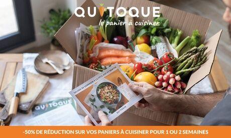 Quitoque Un panier à cuisiner avec 3 ou 4 repas pour 2, 3, 4 ou 5 pers. sur le site Quitoque (jusqu'à 80% de réduction)