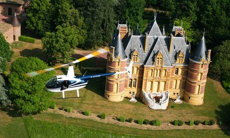 Helico sun Vol en hélicoptère au-dessus du Beaujolais de 12 min ou 24 min, ou de Lyon de 30 min, pour 1 ou 3 pers avec Helico Sun