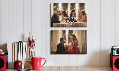 Photo Gifts Shop 2 ou 4 toiles personnalisables, format au choix chez Photo Gifts Shop (jusqu'à 84% de réduction)