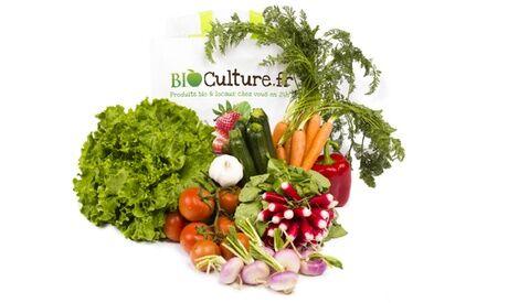 Bio Culture Un panier de légumes ou de fruits 100% bio à emporter au choix avec Bio Culture