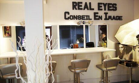 Real Eyes - Conseil En Image Diagnostic morpho-coiffure, avec conseils en auto-coiffage et mise en beauté à 24,90 € au Real Eyes - Conseil En Image