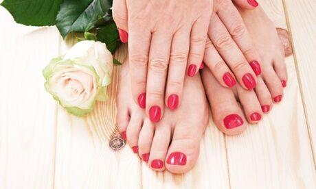 Coiffure & beauté Styling Beauté des mains et des piedsen option avec pose de vernis semi-permanent au salon Coiffure & Beauté Styling