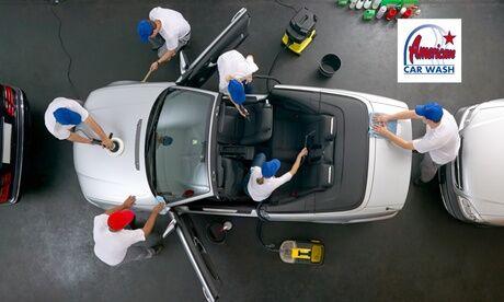 """American Car Wash Rennes Lavage auto complet platine ou premium avec un nettoyage """"Clean +"""" en option chez American Car Wash Rennes"""